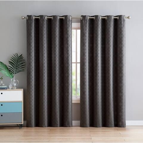 VCNY Home Daniel Jacquard Curtain Panel