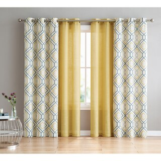 VCNY Home Jackston 4-pack Curtain Panel Set