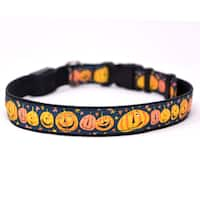 Yellow Dog Orion LED Collar - Pumpkin Party