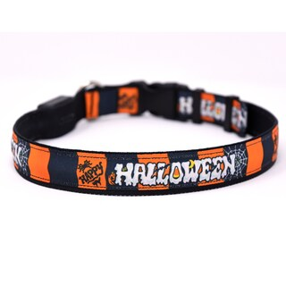 Yellow Dog Orion LED Collar - Happy Halloween
