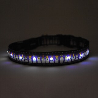 Yellow Dog Orion LED Collar - Ghost Party