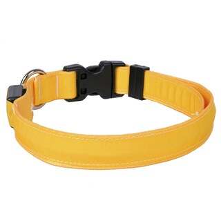 Yellow Dog Orion LED Collar - Solid Goldenrod