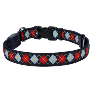 Yellow Dog Orion LED Collar - Red Argyle https://ak1.ostkcdn.com/images/products/18010538/P24180467.jpg?impolicy=medium