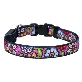 Yellow Dog Orion LED Collar - Pink Garden