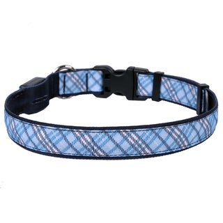 Yellow Dog Orion LED Collar - London Plaid