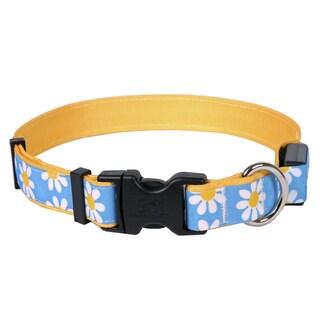 Yellow Dog Orion LED Collar - Blue Daisy