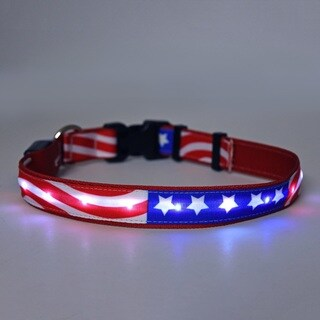 Yellow Dog Orion LED Collar - Americana