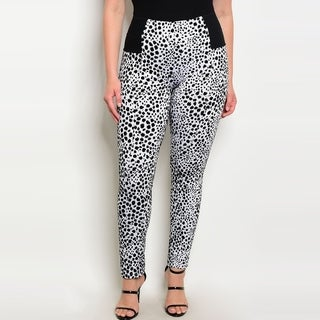 Shop The Trends Women's Plus Size High Waist Skinny Pants With Allover Animal Print