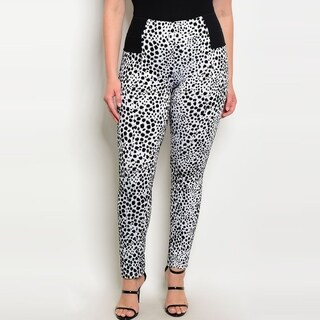Shop The Trends Women's Plus Size High Waist Skinny Pants With Allover Animal Print (5 options available)