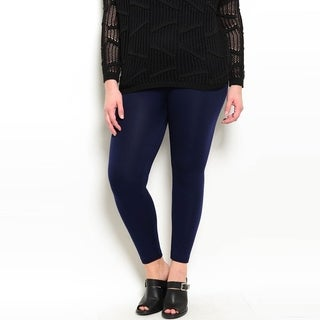 Shop The Trends Women's Plus Size Leggings With High Waistline