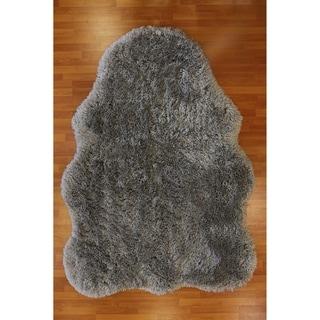 Shaped Grey Rug