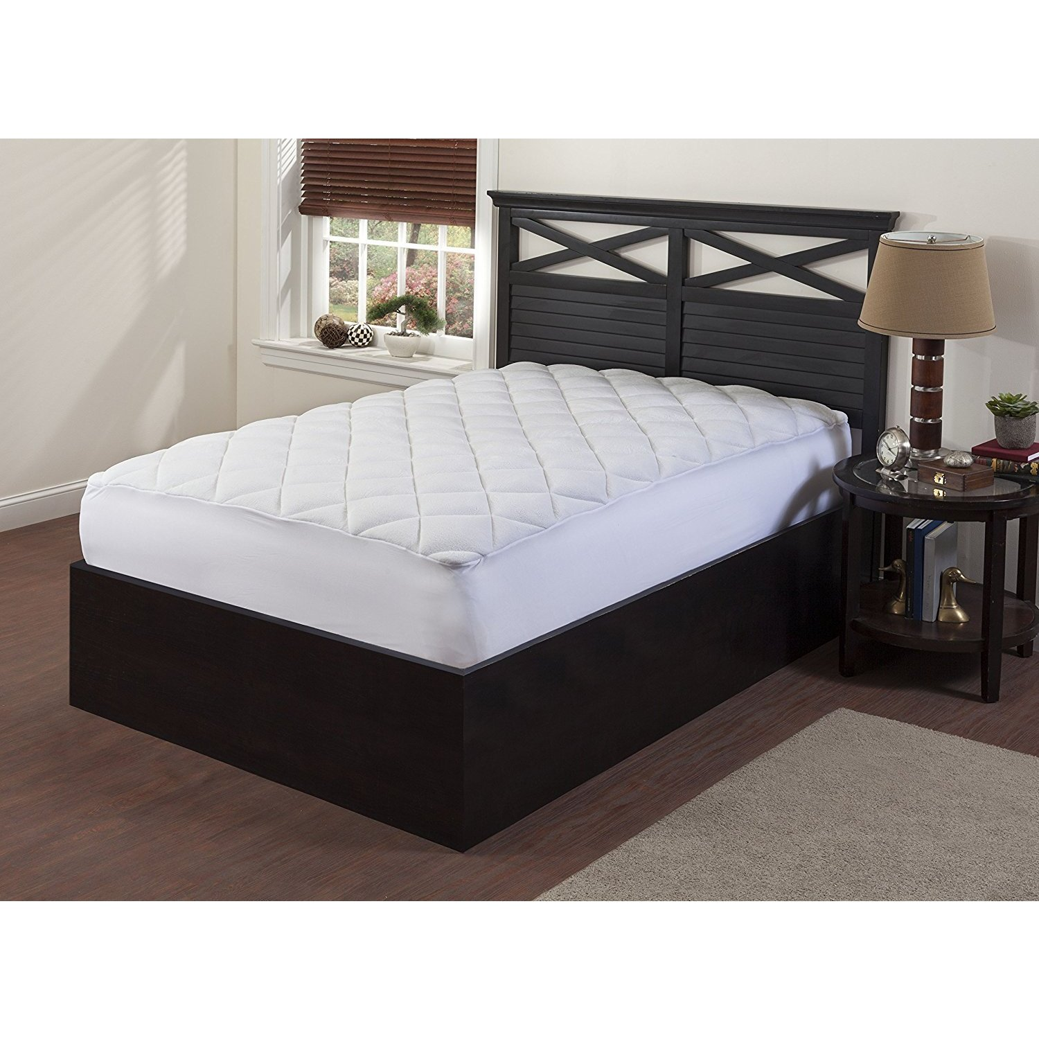 Royal Comfort, Double Puff Mattress Pad (Queen), Black ni...