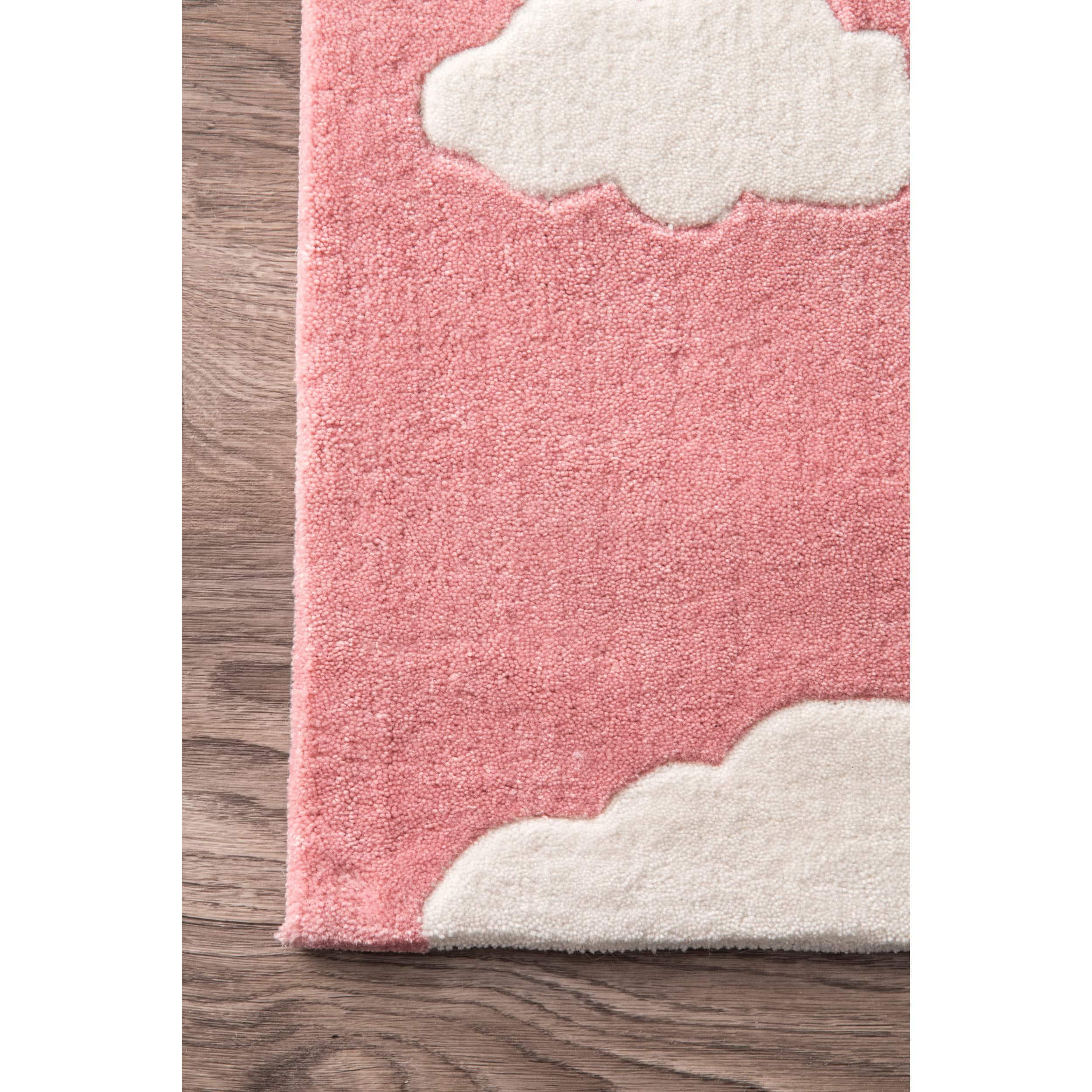 Handmade Crochet Rug Pink Rug Pink Carpet Nursery: Runner Rugs For Less