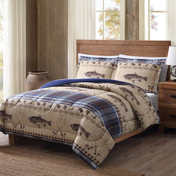 Shop Remington Fly Fishing 3 Piece Printed Lodge Comforter