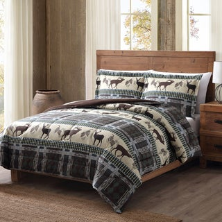 Remington Antler Ridge Printed Lodge 3-Piece Comforter Set