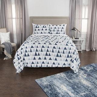 Maddux Place Flint Hand Quilted Cotton Reversible 3-Piece Quilt Set