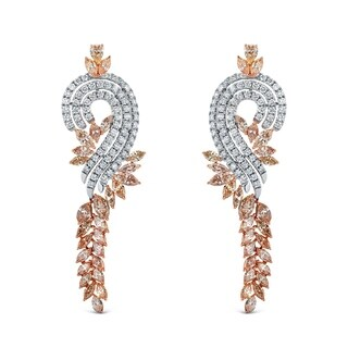 Auriya 14k Two-tone Gold 17 2/5ct TDW Diamond Dangle Earrings