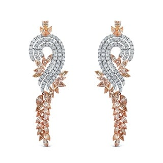 Auriya 14k Two-tone Gold 17 2/5ct TDW Diamond Dangle Earrings