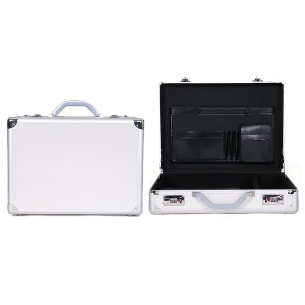 Heritage Travelware Aluminum 17.3-inch Laptop Attache Briefcase with Combination Lock. Opens flyout.
