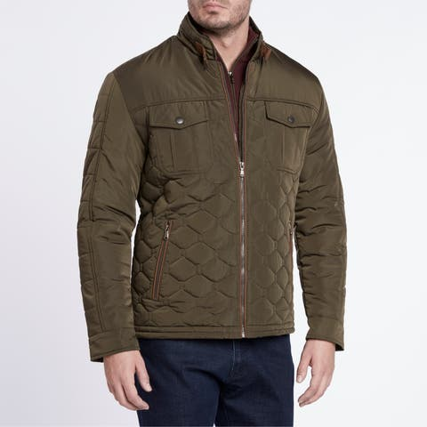 Light Weight Olive Quilted Jacket