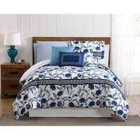 Danica Chinoiserie 12PC Bed In a Bag Comforter Set with BONUS Pillowcases