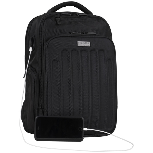 03d1dfba0 Kenneth Cole Reaction Dual Compartment Checkpoint-friendly USB Port 17-inch Laptop  Backpack with