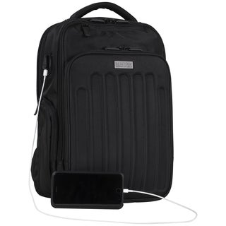 Kenneth Cole Reaction Dual Compartment Checkpoint-friendly USB Port 17-inch Laptop Backpack with Anti-theft RFID Protection