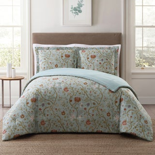 Style 212 Bedford Floral 3-Piece Printed Comforter Sets