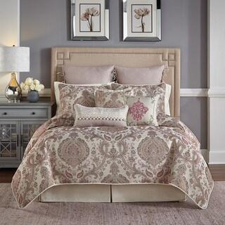 Giulietta Jacquard Damask 4 Piece Comforter Set with Bedskirt