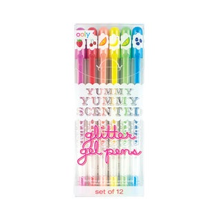 OOLY Yummy Yummy Scented Glitter Gel Pens (Pack of 2)