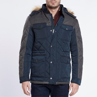 Medium Weight Navy/Gray Quilted Jacket