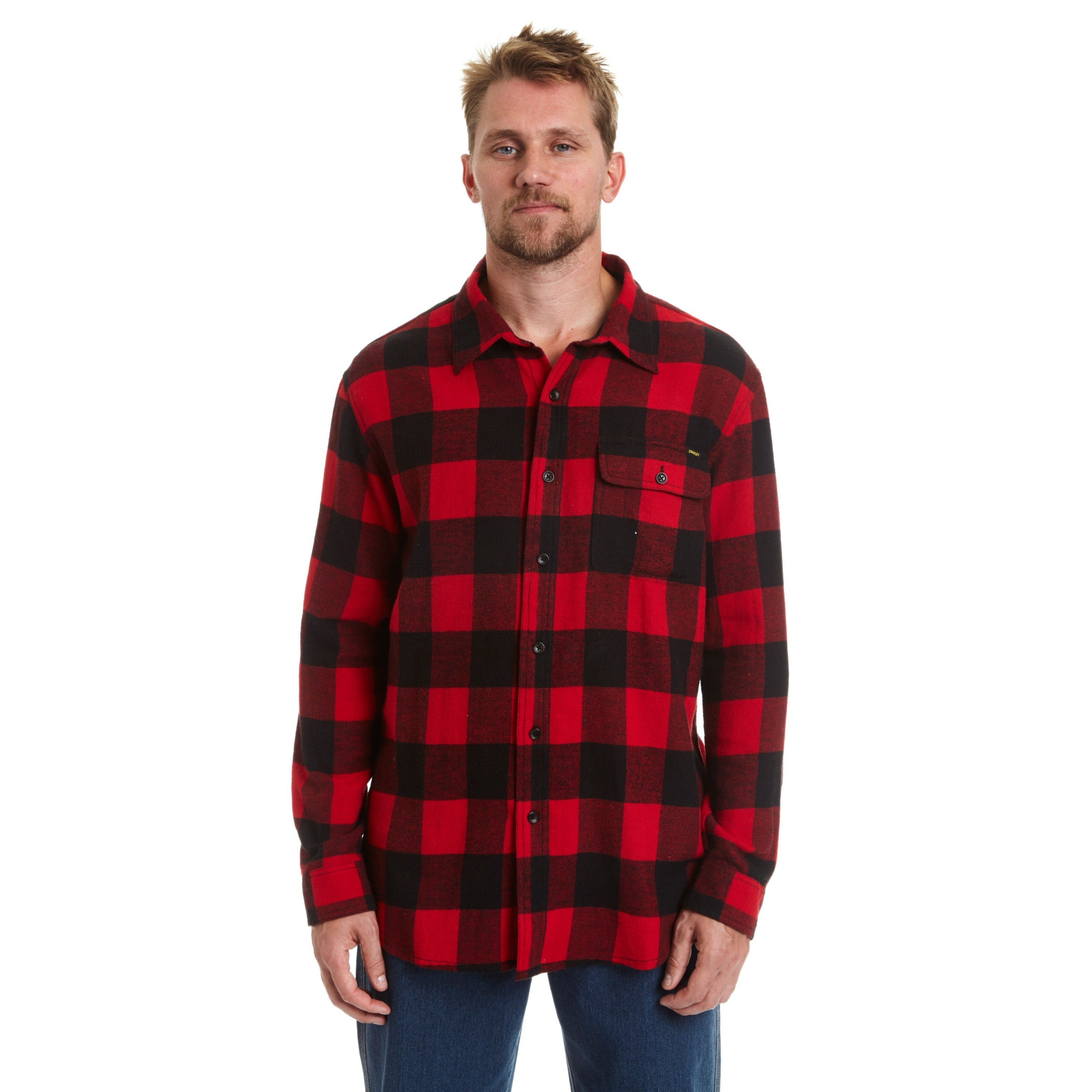 Big & Tall Stanley Men's Big and Tall Button Front Flanne...