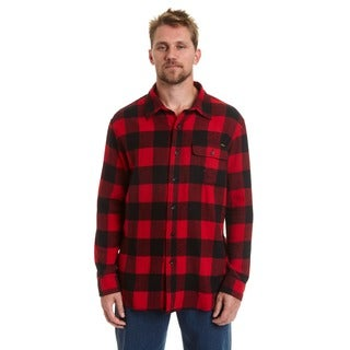 Stanley Men's Big and Tall Button Front Flannel Shirt