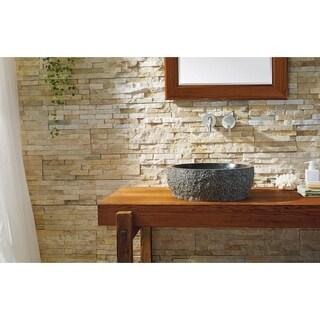 Virtu USA Melia Shanxi Black Granite/Natural Stone Bathroom Vessel Sink