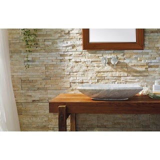 Virtu USA Kirke White Bianco Carrara Marble Natural Stone Bathroom Vessel Sink