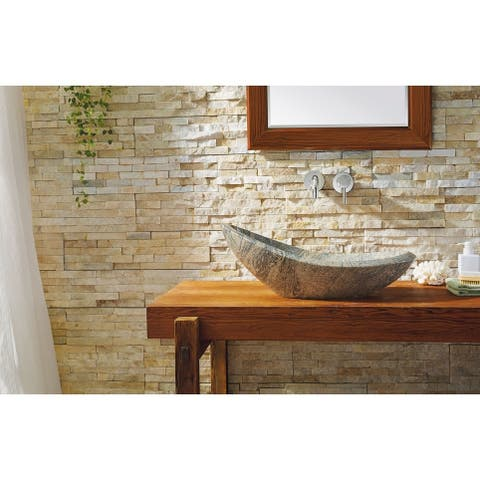 Virtu USA Natural Stone Bathroom Vessel Sink in China Juparana Granite