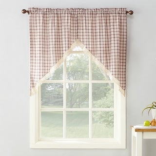No. 918 Maisie Plaid Kitchen Curtain Swags - 54x38