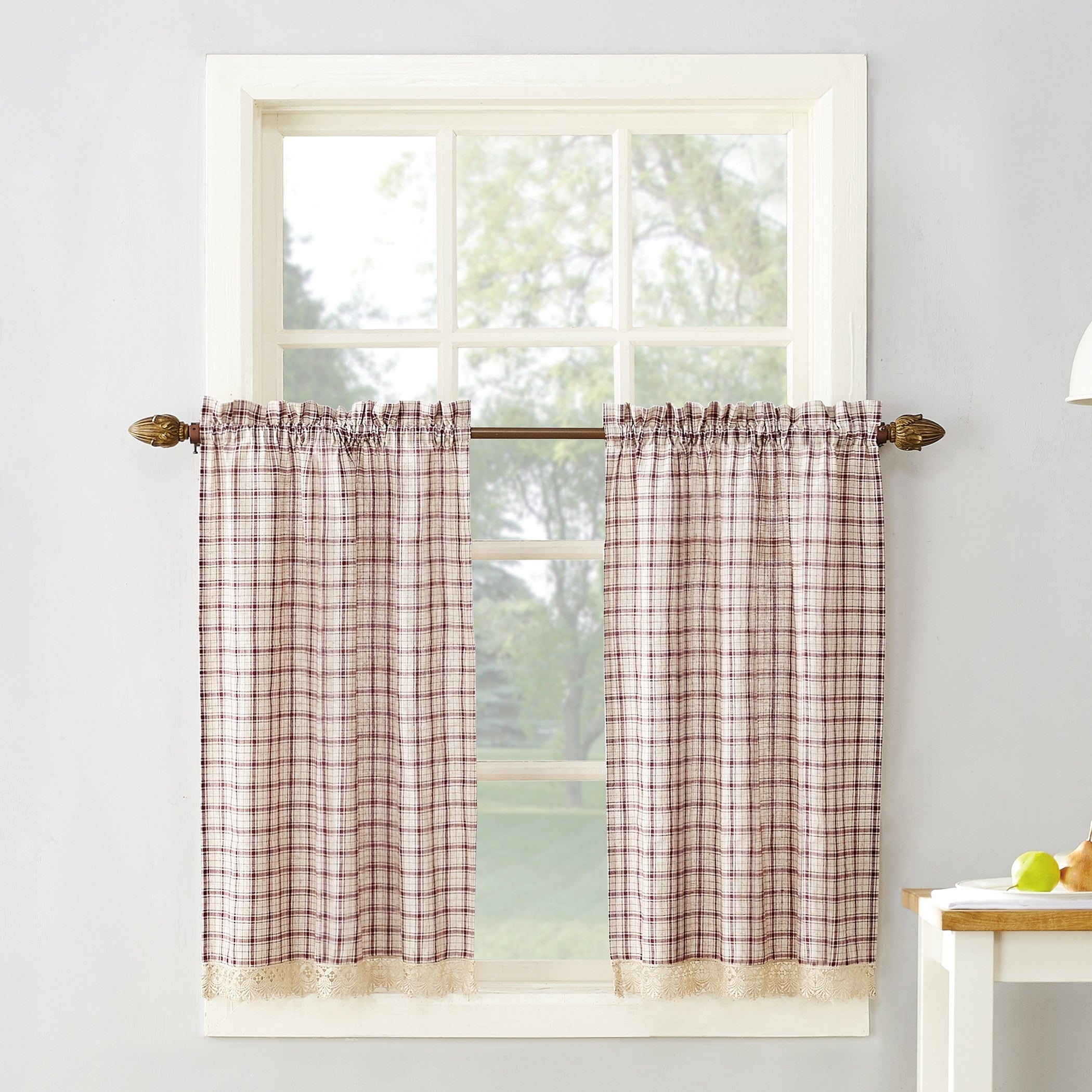 buy curtain tiers online at overstock our best window treatments deals rh overstock com