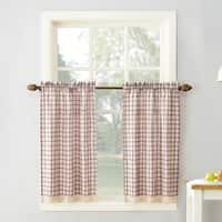 No. 918 Maisie Plaid Kitchen Curtain Tiers