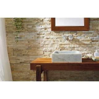 Virtu USA Mya Natural Stone Bathroom Vessel Sink
