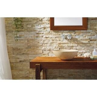Virtu USA Nyx Travertine Beige Marble Natural Stone Bathroom Vessel Sink