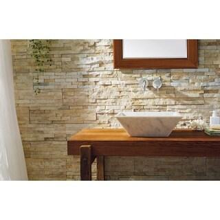 Virtu USA Helios White Bianco Carrara Marble Natural Stone Bathroom Vessel Sink