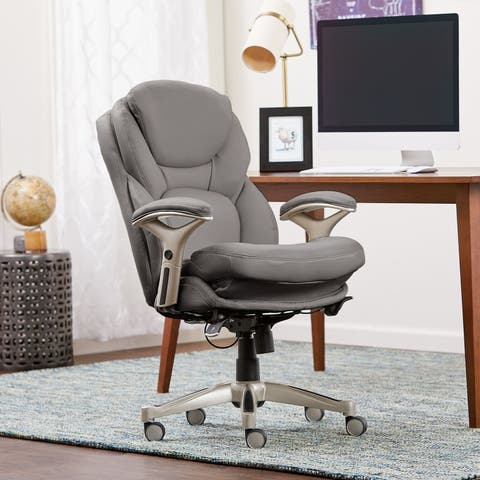 Serta Works Bonded Leather Executive Office Chair with Back in Motion Technology