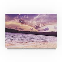 Vintage Skies 'The Work of his Hands' Canvas Art