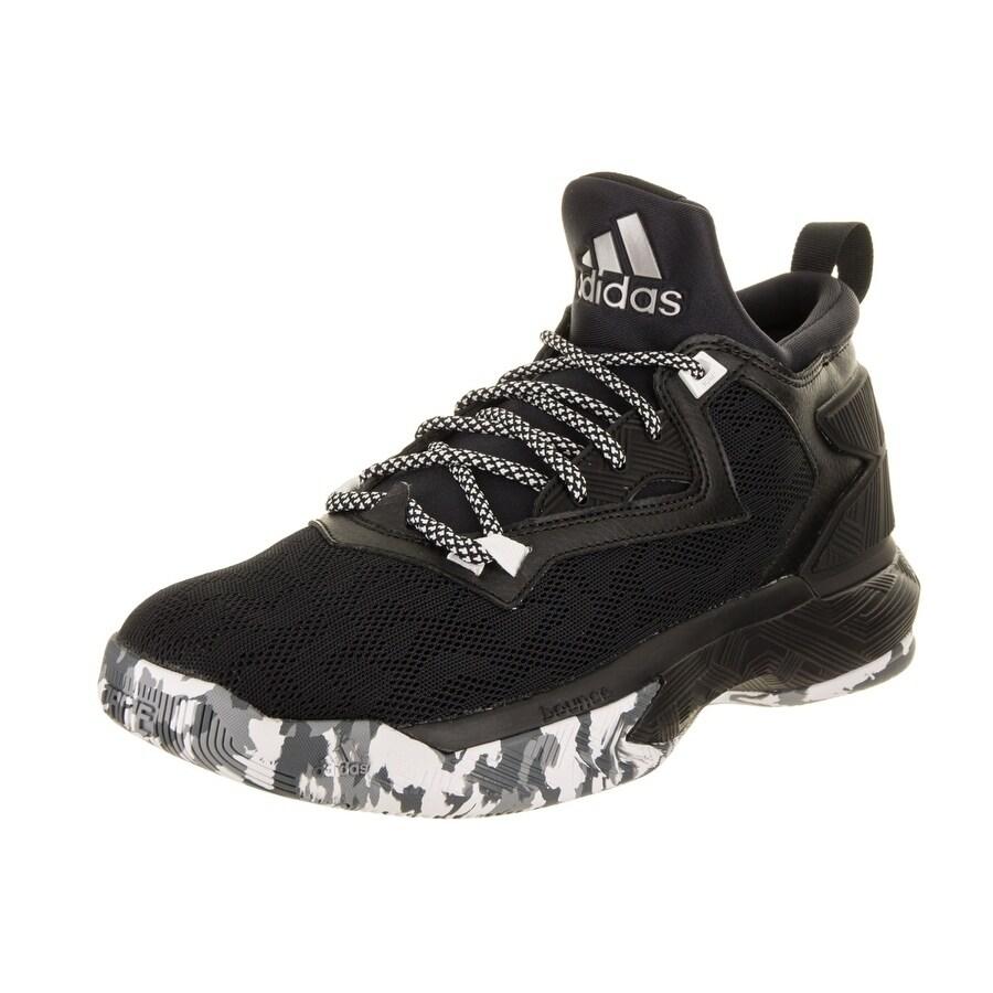 Adidas Men's D Lillard 2 Basketball Shoe (7), Black (Synt...