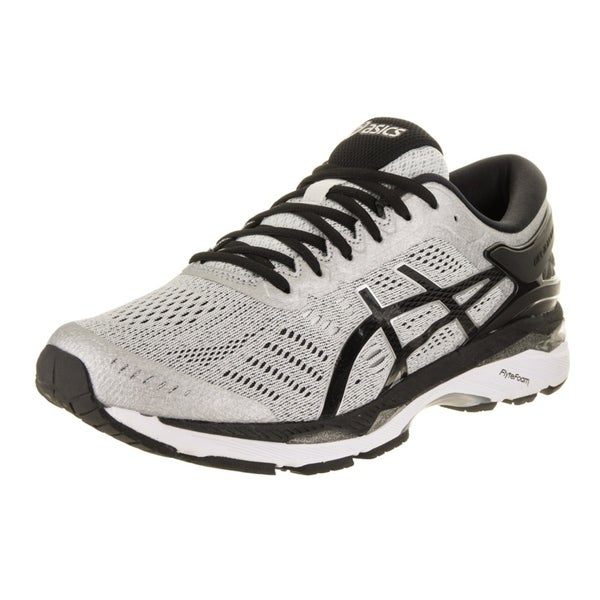 Details about Asics Gel Kayano 24 Mens Size 11 Running Shoes White Black Grey Wide Silver 2E