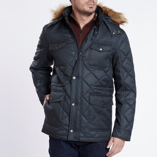 Medium Weight Heather Blue Quilted Jacket