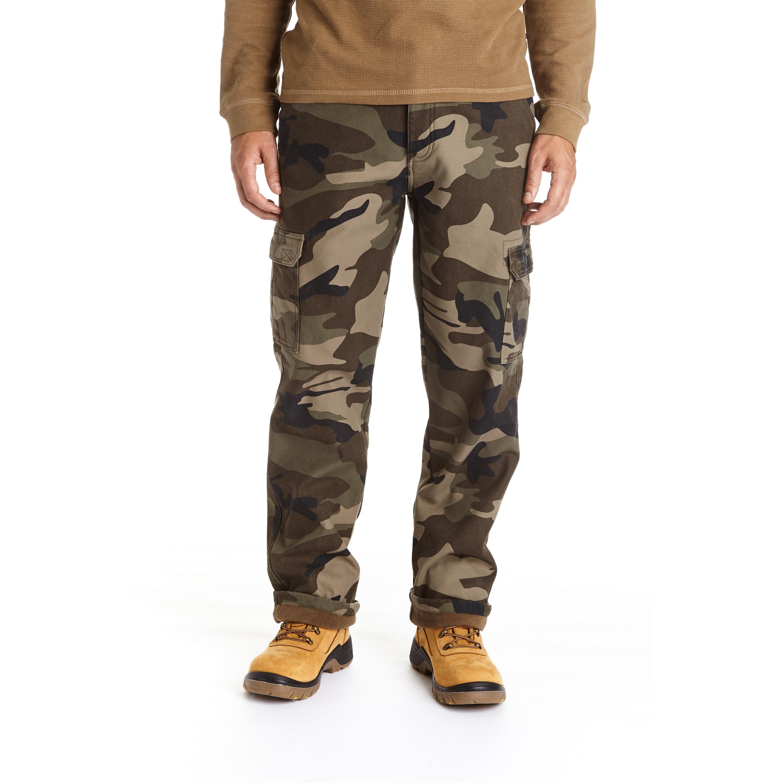 Stanley Men's Camo Print Fleece Lined Cargo Pant (Camo Pr...