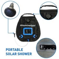EasyGo Camp Shower - 5 Gallon Portable Shower - Solar Heated Camping Water Bag with Handle and Buckl