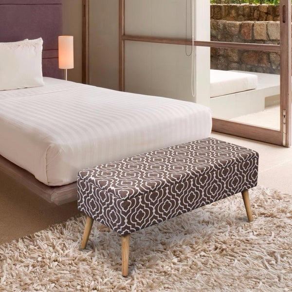 Shop Storage Ottoman Bench 37 Inch Easy Lift Top